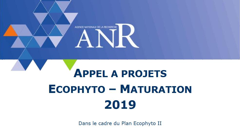 Première édition de l'appel à projets ANR Ecophyto-Maturation