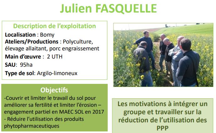 Témoignage de Julien Fasquelle, polyculteur-éleveur à Bomy